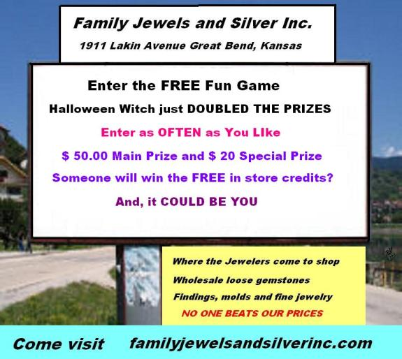 Family Jewels and Silver Inc. 1911 Lakin Avenue Great Bend, Ks  67530 Phone: 620-796-2252 http://familyjewelsandsilverinc.com/