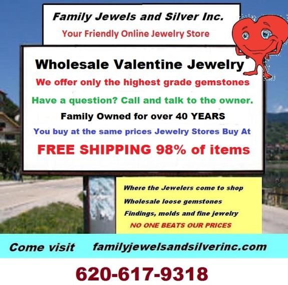 Family Jewels Wholesale Valentine Jewelry